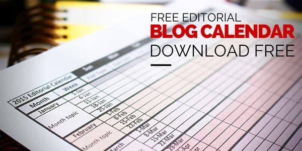 Download a free 2015 blogging editorial calendar. Full year on 1 page. #blogging #editorialcalendar #printable