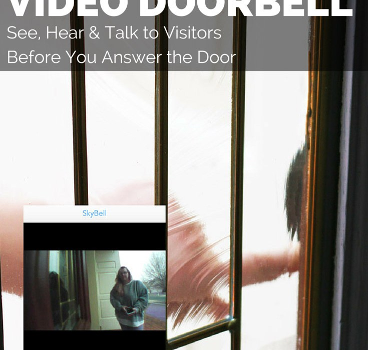 Use SkyBell WiFi Video Doorbell to safely see who is at your door before you open the door. #SkyBell