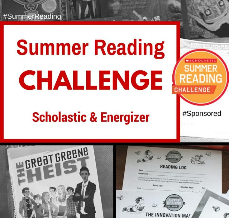 Summer Reading Challenge with Scholastic & Energizer; Power Up & Read. Resources for parents #SummerReading #Sponsored
