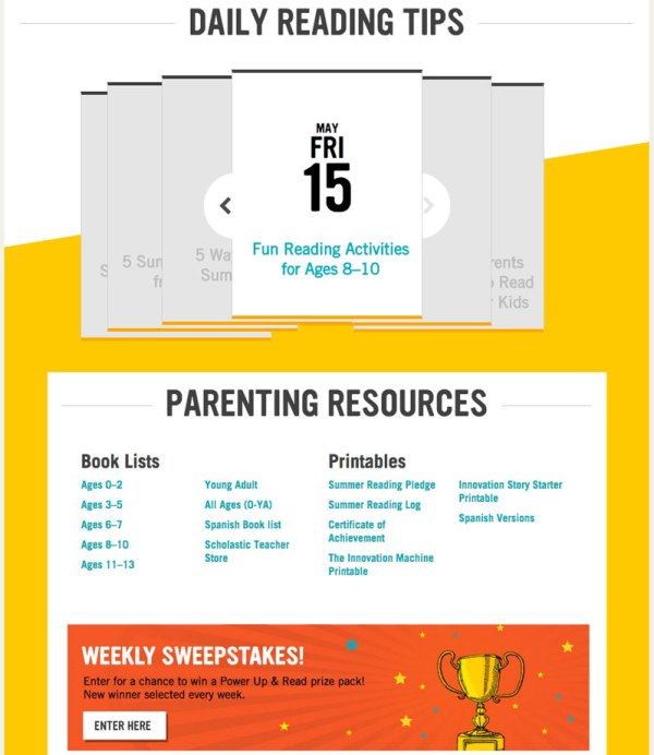 Scholastic Summer Reading Challenge Resources for Parents #summerreading