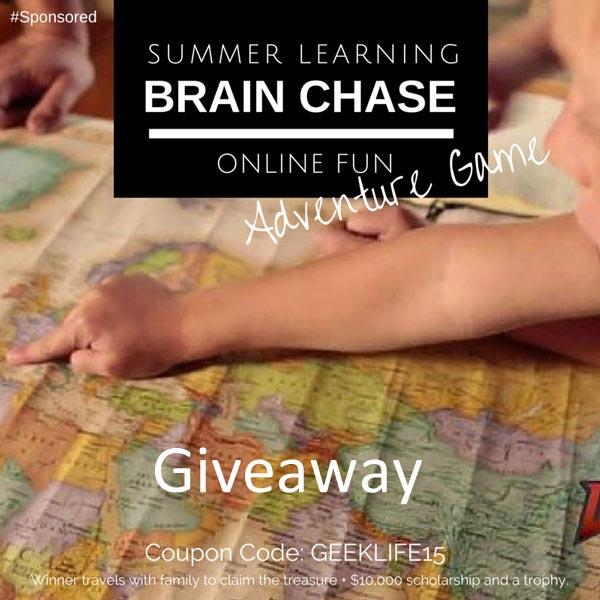 Online summer learning program, #BrainChase #Giveaway