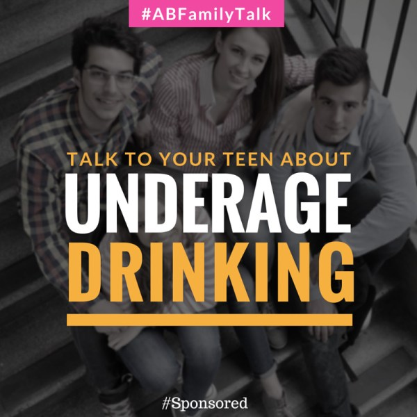 Tips to talk to your teen about underage drinking. Important during prom season to bring the topic up again. #ABFamilyTalk #IC #Spon