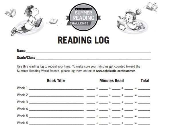 Summer Reading Challenge 2015 Reading Log #SummerReading