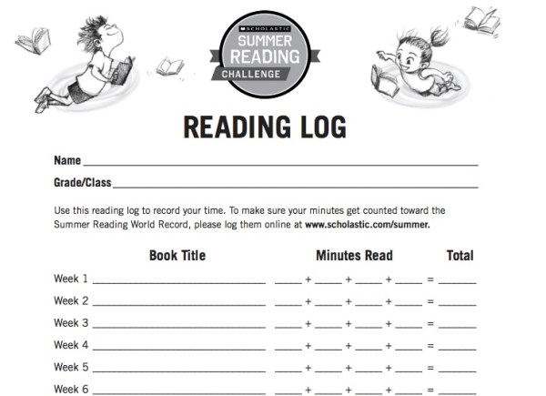Summer Reading Challenge 2015 Reading Log #SummerReading