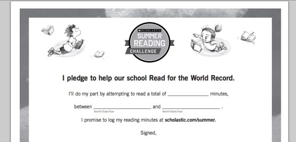 Summer Reading Challenge Goal Setting