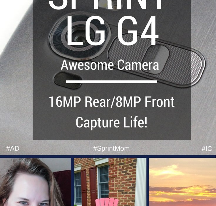 The LG G4 has an awesome front & rear camera. Capture your life! Sprint LG G4; DoSomething.org Thumb Wars campaign; #SprintMom #IC #ad