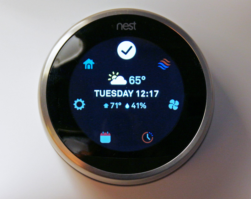 Nest Learning Thermostat installed in my bedroom. #BBYConnectedhome