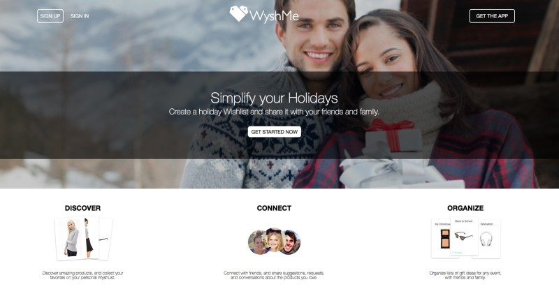 WyshMe wish lists to make holiday shopping easier. #wyshme #holiday #gifts