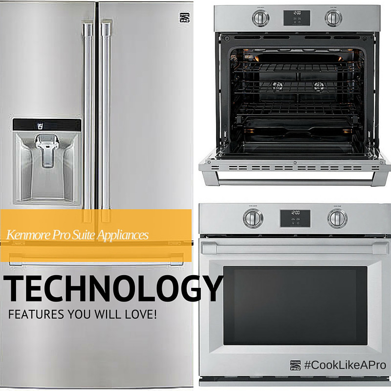 Cool tech features of the new Kenmore Pro Suite line of applicances for your kitchen. It will make cooking and cleaning easier. #CookLikeAPro #sponsored