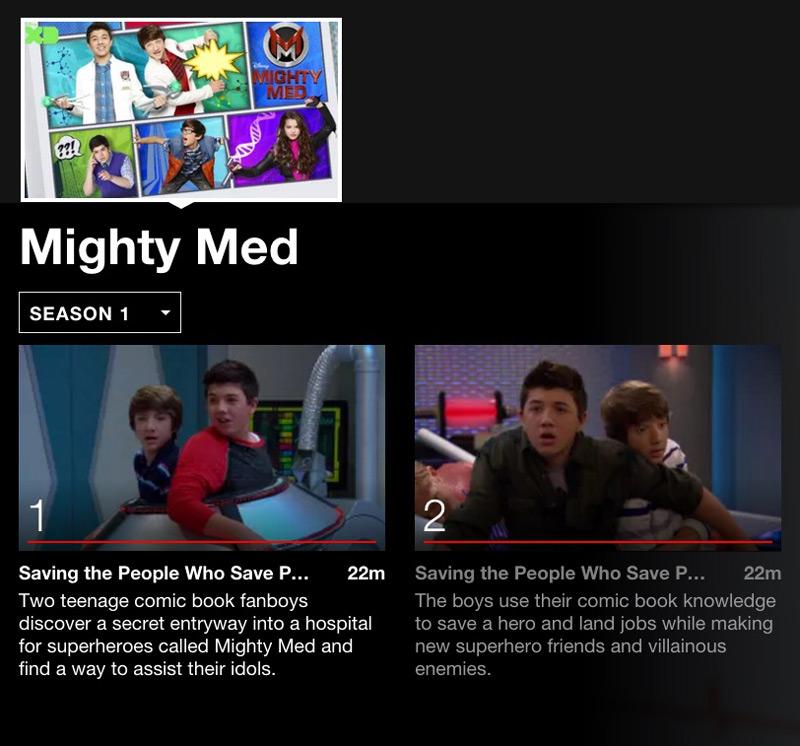 Mighty Med Netflix binging for tween girls. #streamteam