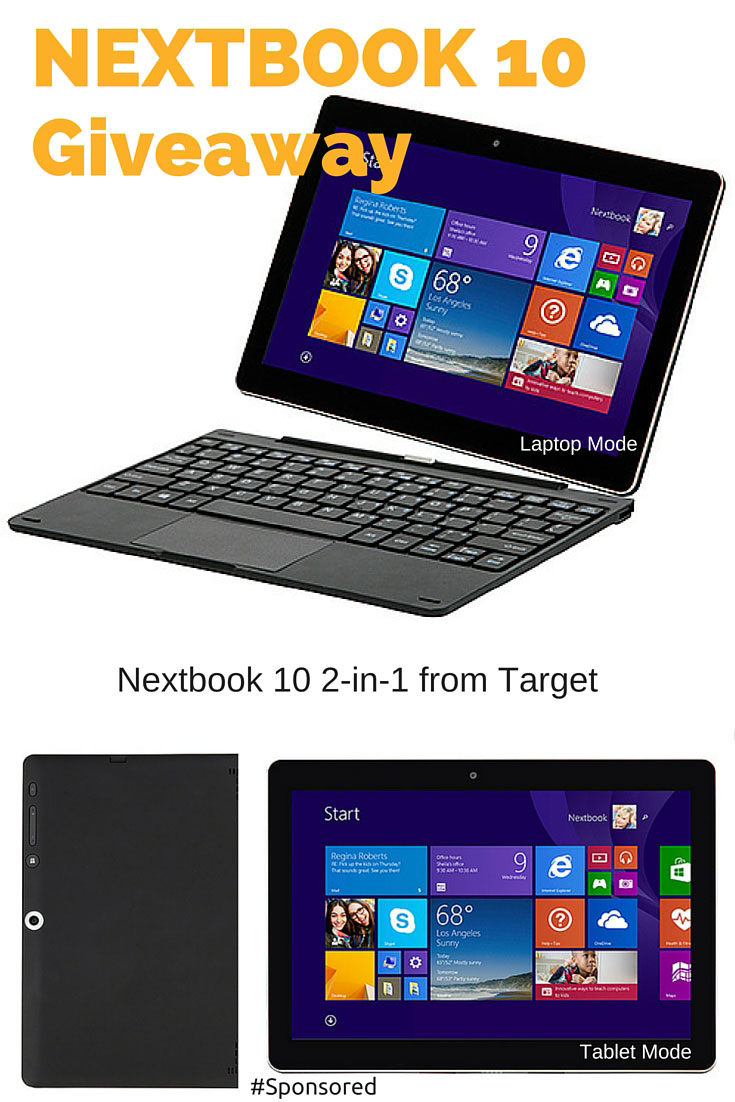 Nextbook 10 2-in-1 from Target. Perfect device to stay connected with your family over the holidays. #Giveaway #sponsored