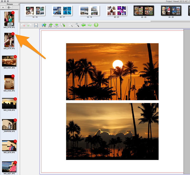 Choosing photos to put in your book