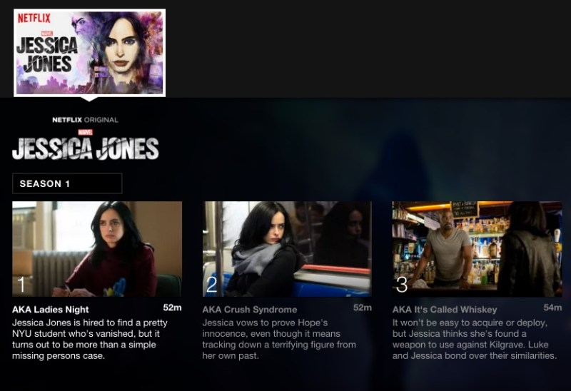 Jessica Jones; 5 Binge worthy shows on Netflix for College Students #StreamTeam