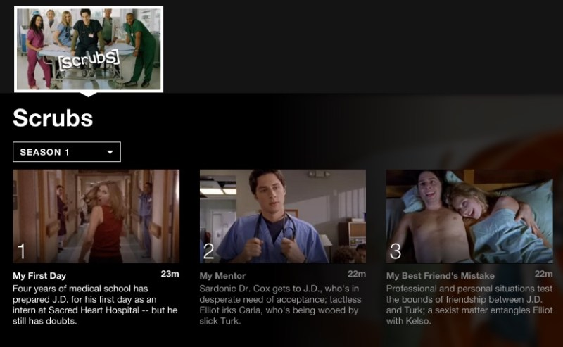 Scrubs; 5 Binge worthy shows on Netflix for College Students #StreamTeam