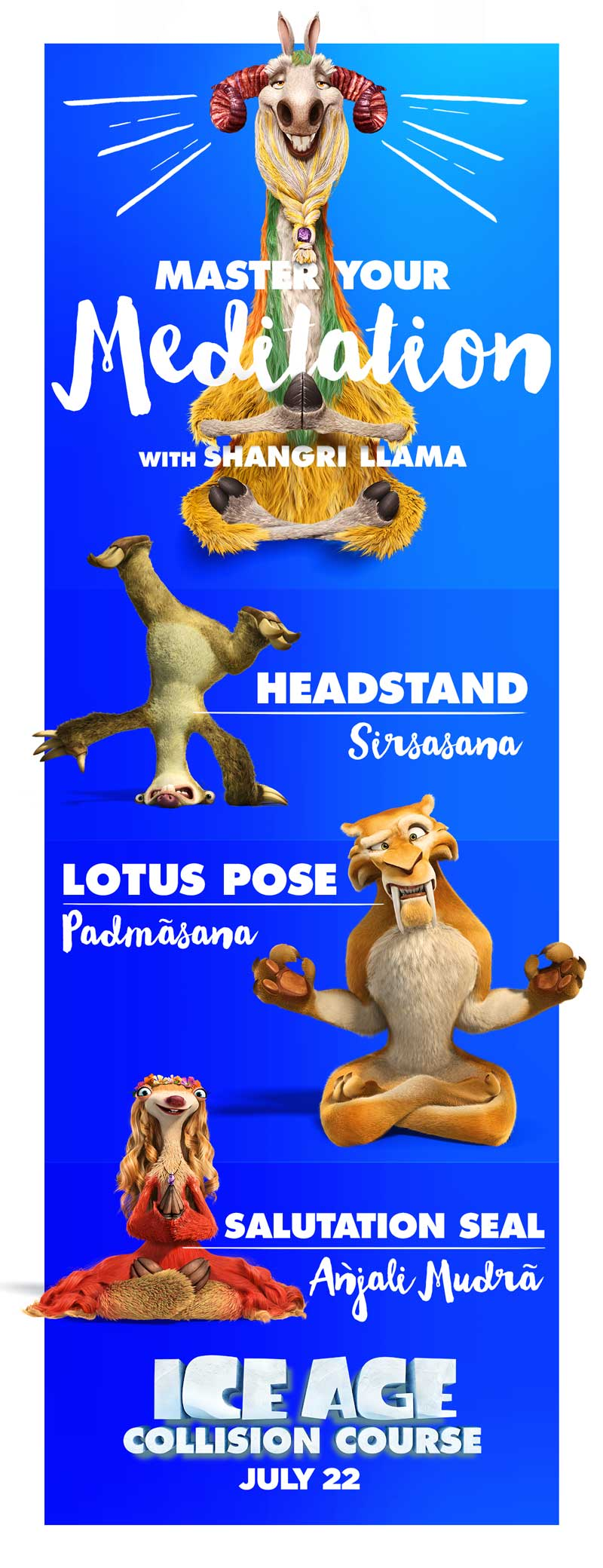 International Yoga Day #infographic; #IceAge movie