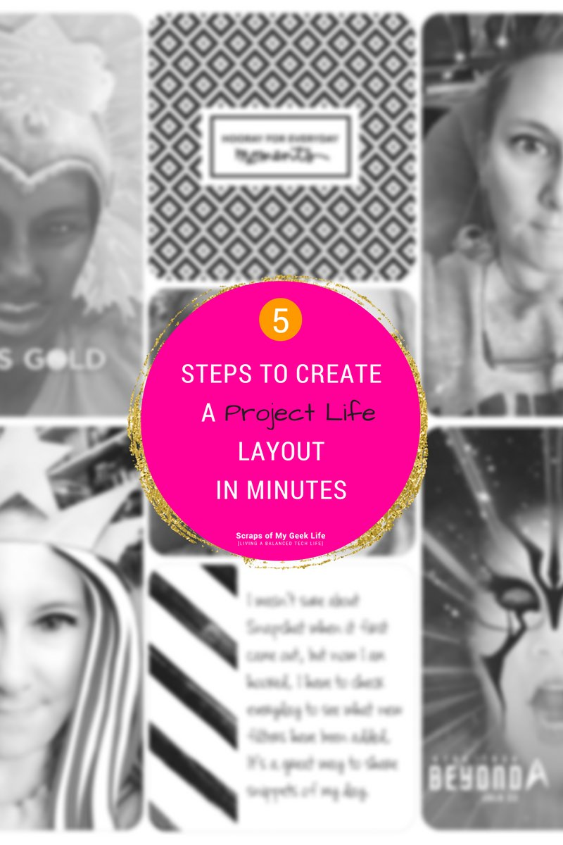 5 Simple Steps to Create Project Life Layout in Minutes. Use your mobile device to create layouts anywhere you are. #ProjectLifeApp available for Android and Apple devices.