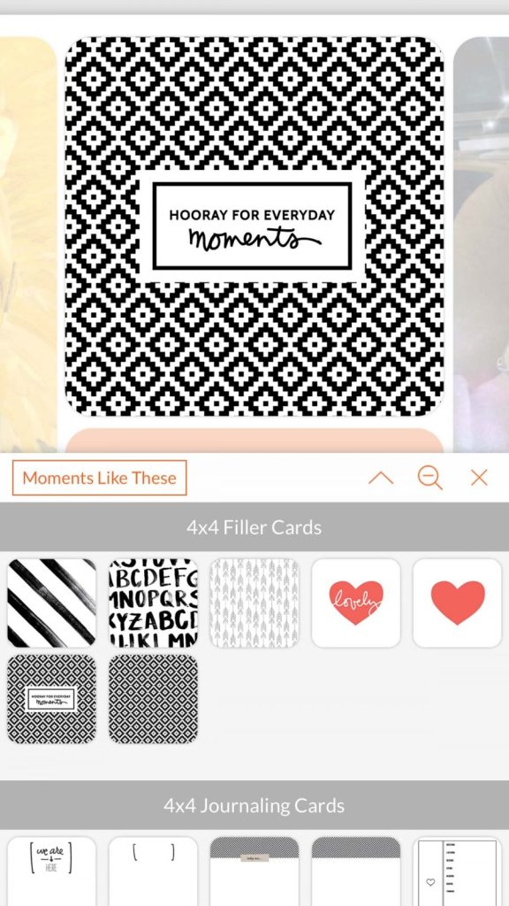 Adding filler cards to your Project Life layout. #ProjectLifeApp