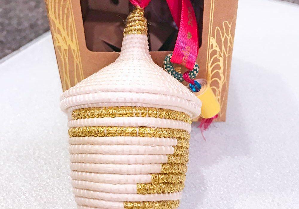 Rwanda #PathtoPeace basket weave ornament