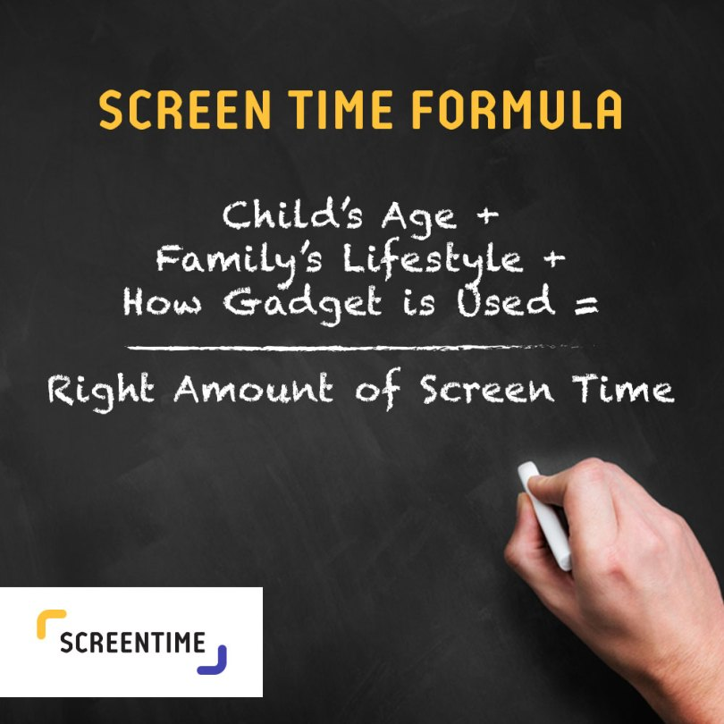 The best screen time balancing formula for your family. #ScreenTimeApp