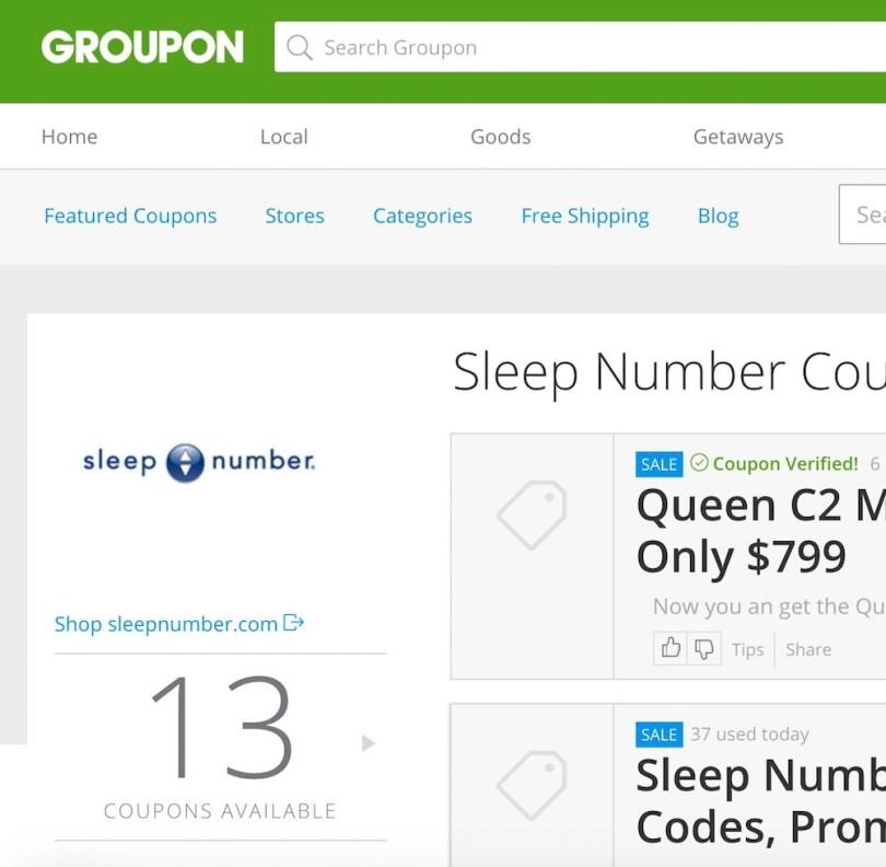Groupon Coupons Sleep Number beds coupons. #GrouponCoupons