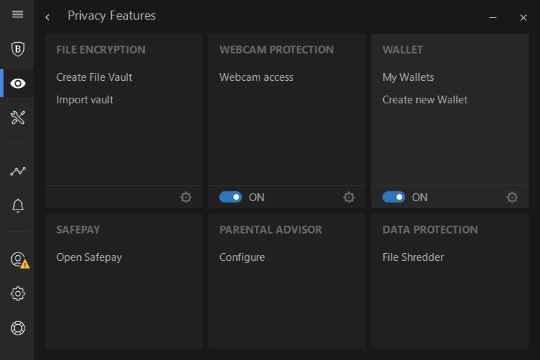 Bitdefender's webcam protection