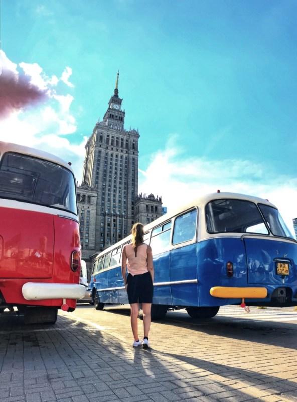 Citytrip Warschau Pkin vintage car