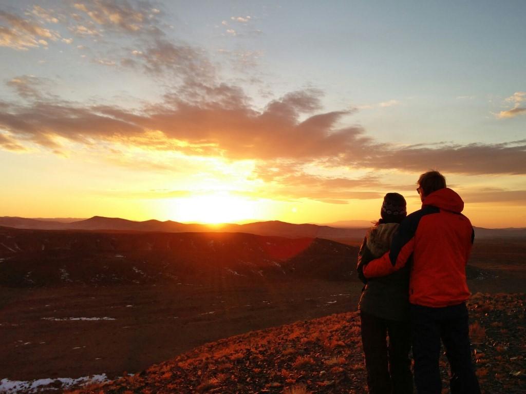 sunset mongolie