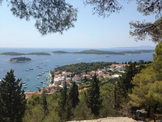 Route Kroatie hvar