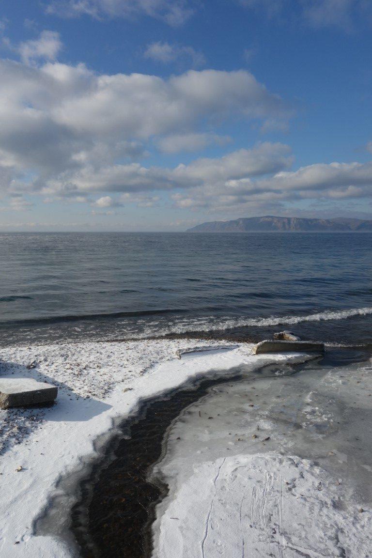 Rusland Baikalmeer winter