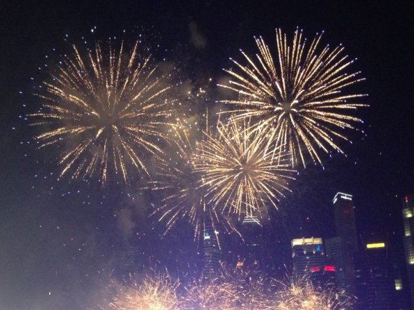Singapore vuurwerk oudjaar nieuwjaar
