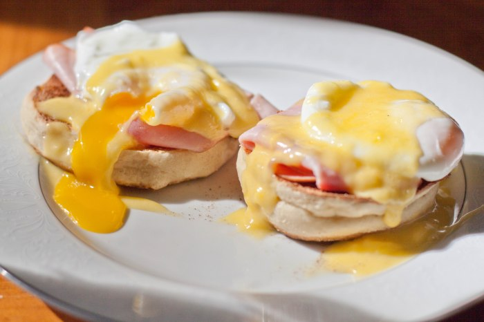 Never waiting in a brunch line again!  Make your own Eggs Benedict from scratch!