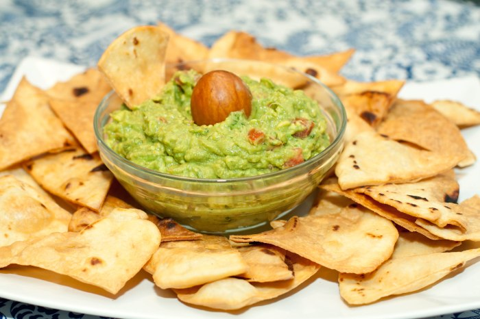 From Scratch Flour Tortilla Chips and Guacamole!
