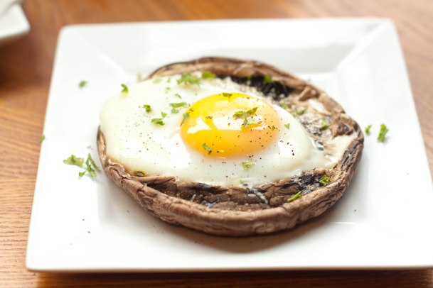 Portobello Mushroom and Egg