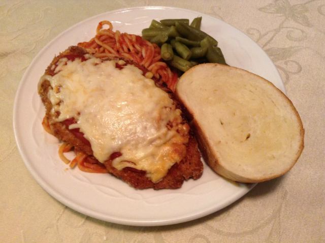 Plate it up with some noodles, beans and some homemade French bread!