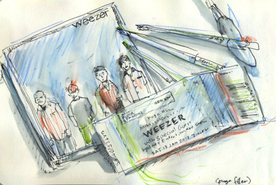 Post gig - Inktense Pecils and pen