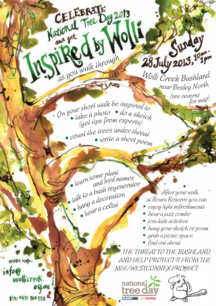 Flyer for the event - illustration was painted with watercolours & inks