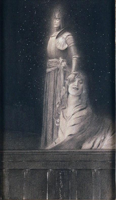 FernandKhnopffWith Verhaeren. An Angel, c.1898, Belgian Royal Museum of Art, Brussels