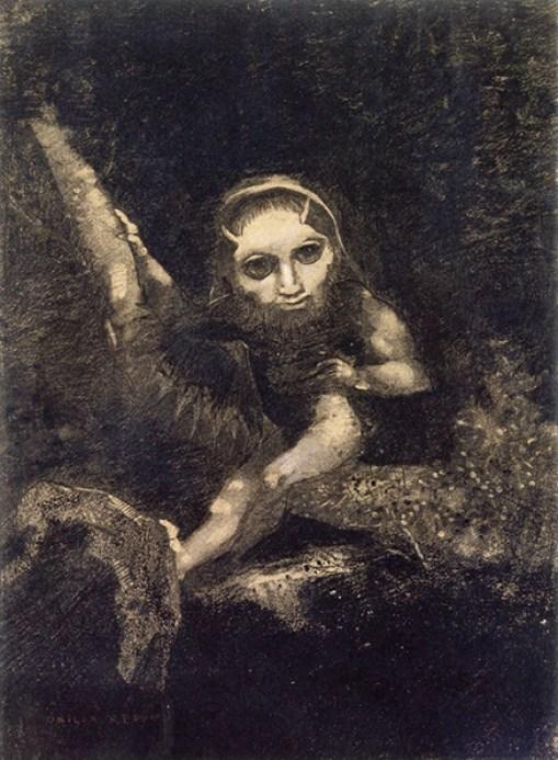 Redon Caliban on a Branch Musee dorsay