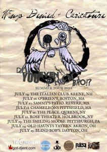 Caricature Tour Dates July