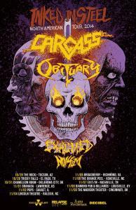 Obituary 2014 tour  poster 9-20-14