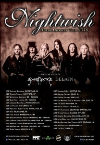 SONATA ARCTICA & NIGHTWISH 2016 TOUR 6-20-15