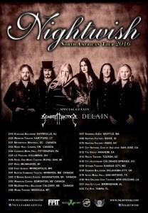 SONATA ARCTICA & NIGHTWISH 2016 TOUR 6-20-15