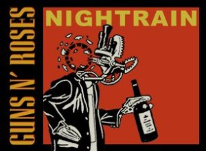 GUNS N' ROSES - nightrain art from twitter page - 4-27-16