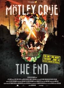 MOTLEY CRUE - cinema poster - 5-11-16