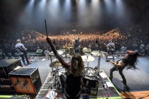 POP EVIL - live shot drummer - 5-16-16