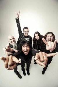 Anthrax:2016: Clockwise from left - Scott Ian, Charlie Benante, Jon Donais, Frank Bello, Joey Belladonna Photo credit: Travis Shinn