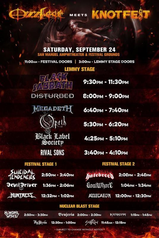 Ozzfest Meets Knotfest Poster 2