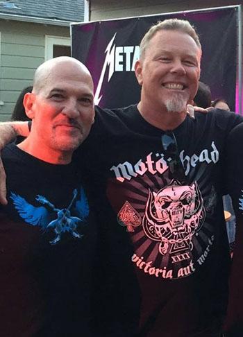 Bob Nalbandian and James Hetfield (Facebook)