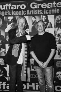 (L-R) Peter Lenheiser (Senior Director of GIbson Entertainment Relations) and photographer CHRIS CUFFARO