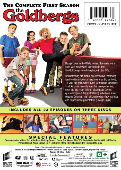 The Goldbergs The Complete First Season Debuts On Dvd September 9th From Sony Pictures Home Entertainment Screen Connections